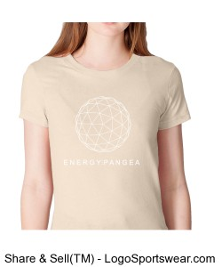 Energy Pangea/RES - Fine Jersey Short  Sleeve Ladies American Apparel Tee. Design Zoom
